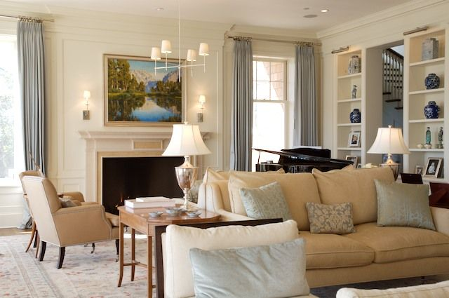 A Beautiful Neutral Palette Gold Accents Living Room Room Colors Home