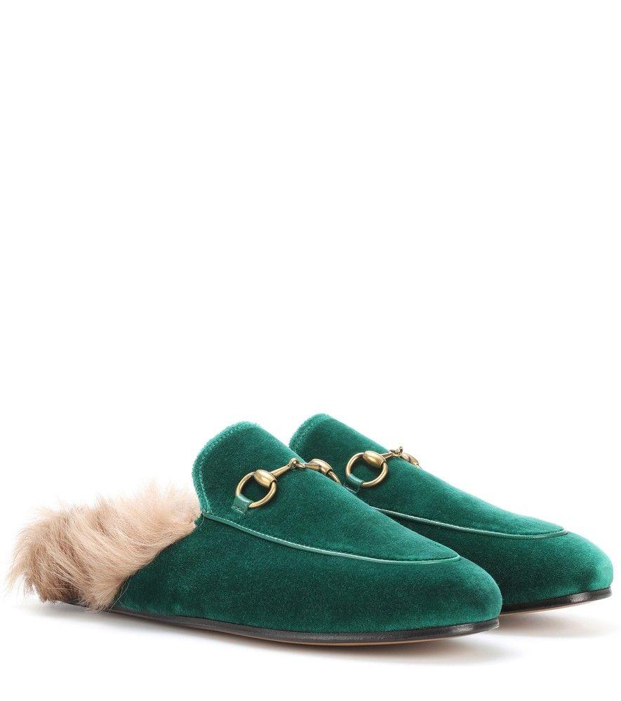 Gucci - Princetown fur-lined velvet