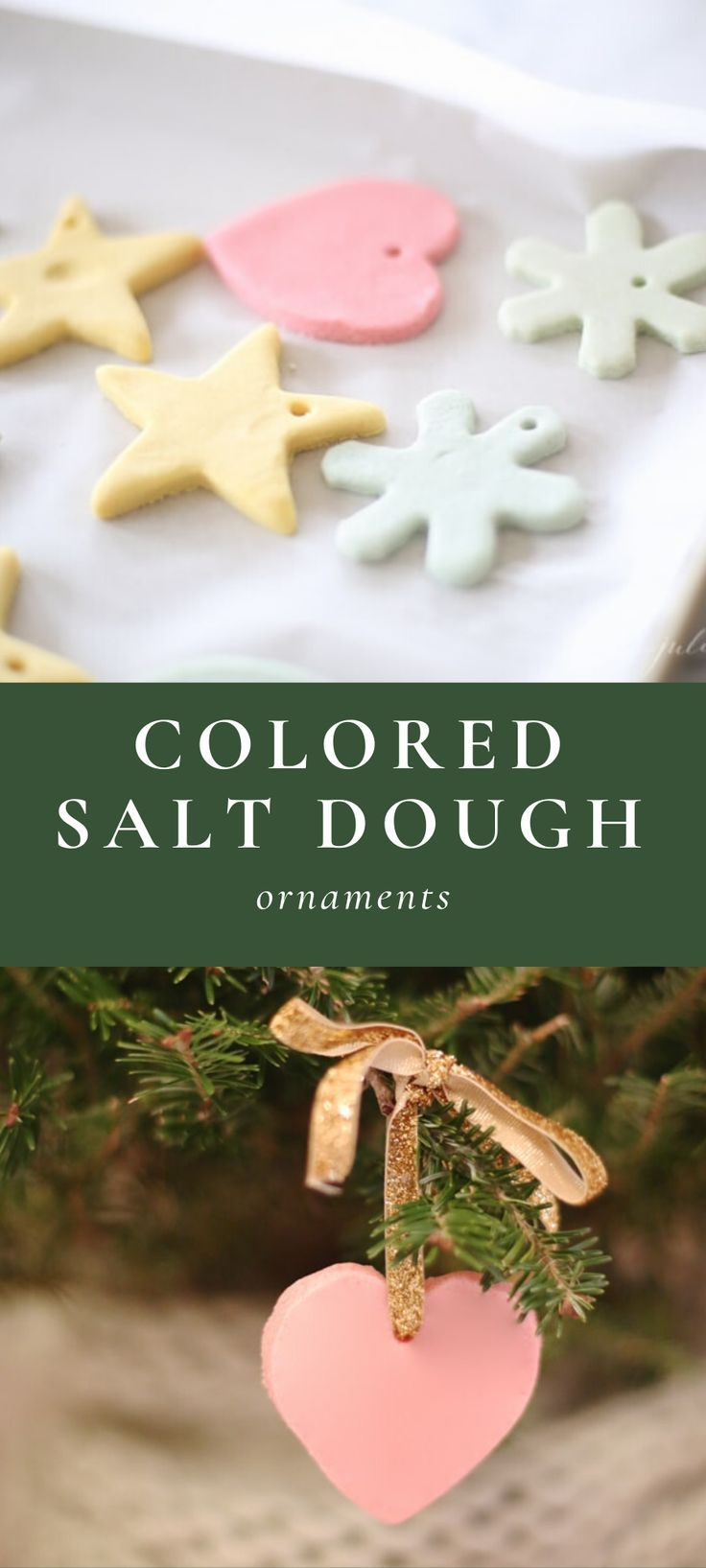 How to Make Color Salt Dough Ornaments