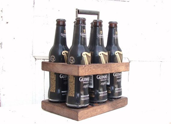 Beer caddy beer holder 6 pack caddy groomsman gift for Six pack holder template