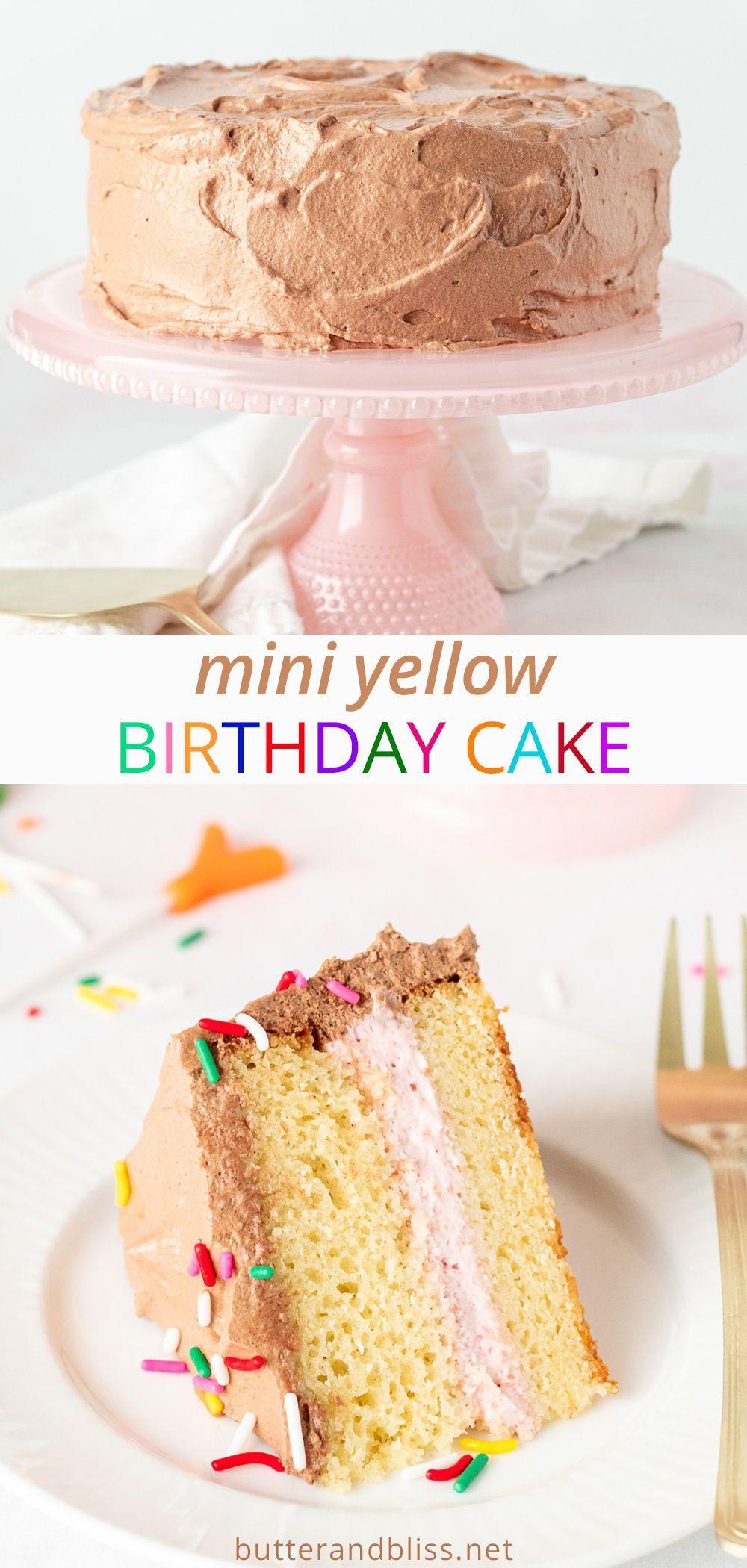 Classic Mini Yellow Cake Neapolitan Cake Butter And Bliss Recipe In 2020 Cake Yellow Cake Yellow Birthday Cakes