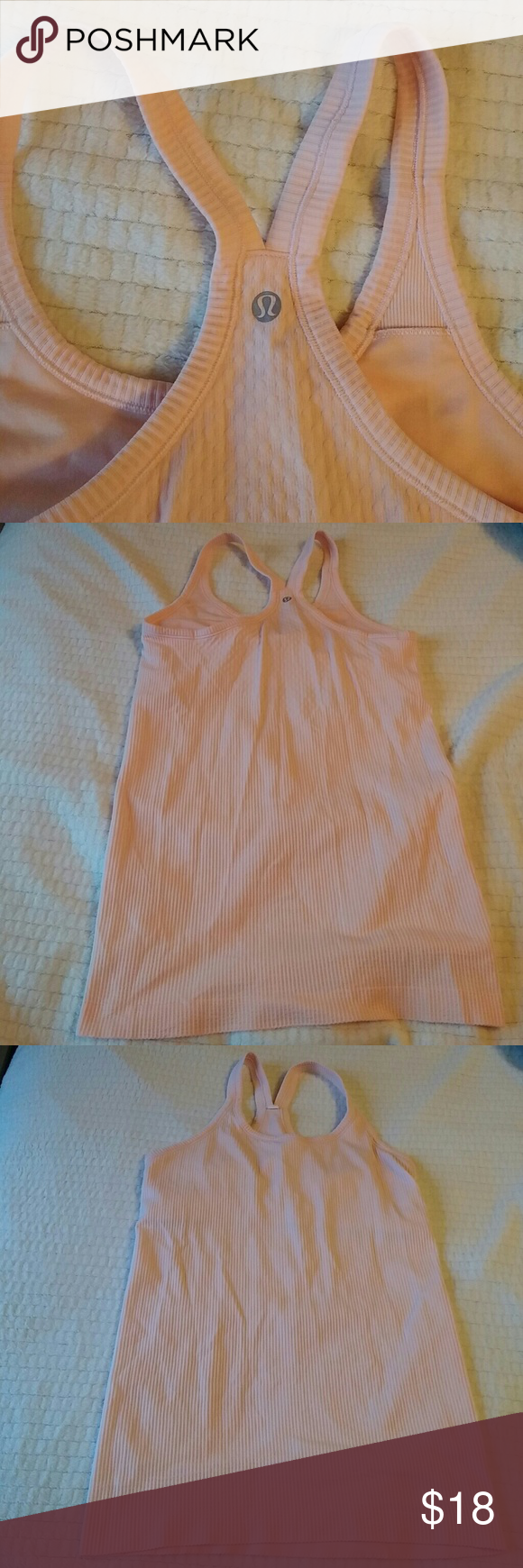 Lululemon Blush pink, great elasticity, ribbed textured. lululemon athletica Tops Tank Tops