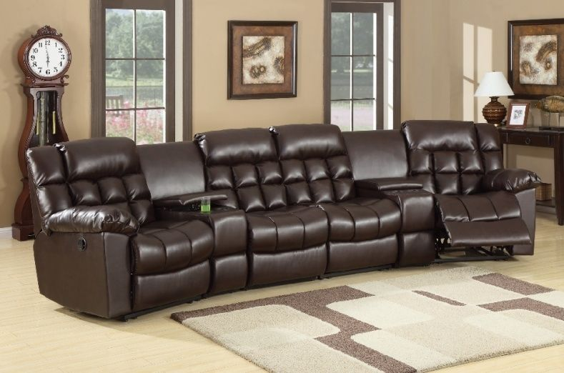 home theater reclining sectional sofa hickory chair leather living room seating