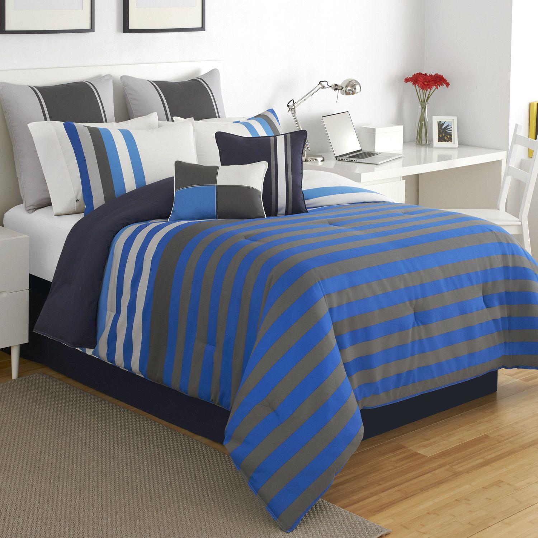 Izod Regatta Stripe Comforter Set Walker Comforter Sets