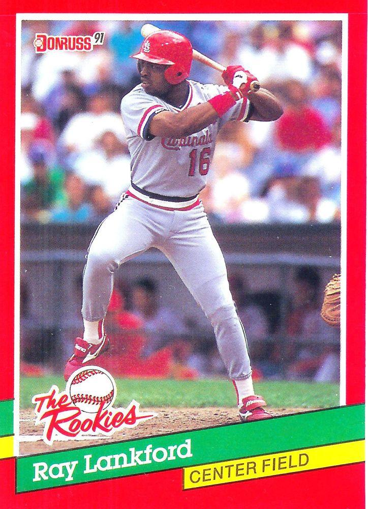 1991 donruss rookies 8 ray lankford cardinals mint