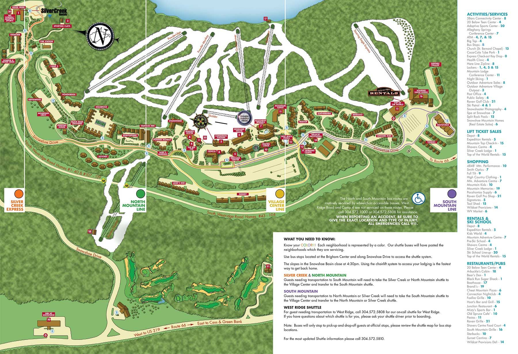 Ski Virginia Map.Snowshoe Mountain Ski Resort Official Website Snowshoe West