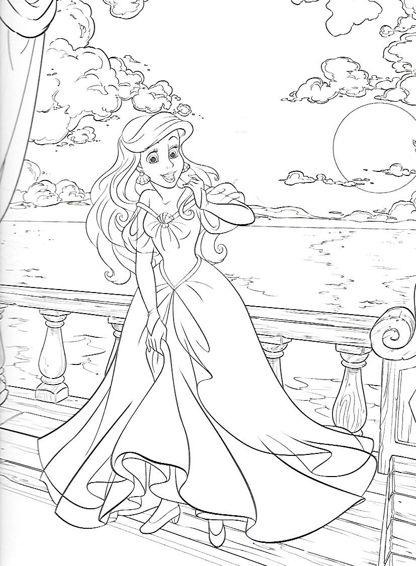 Pin On Coloring Pages Princess