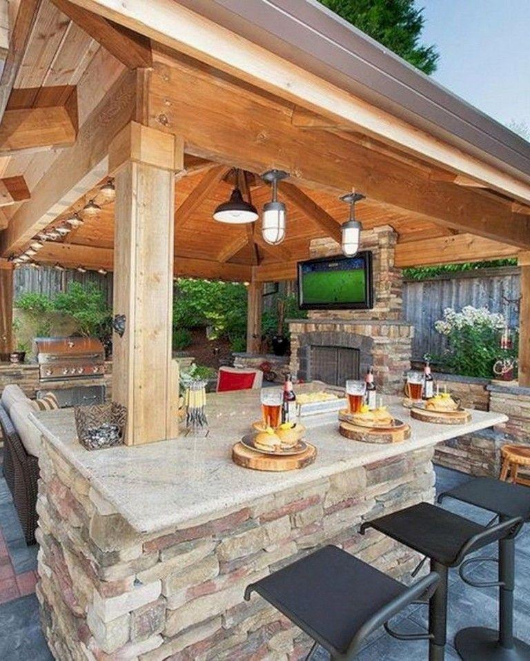 50 Outdoor Bar Ideas For Outdoor Project En 2020 Casas Rusticas De Ladrillo Asadores De Patio Decoracion De Patio