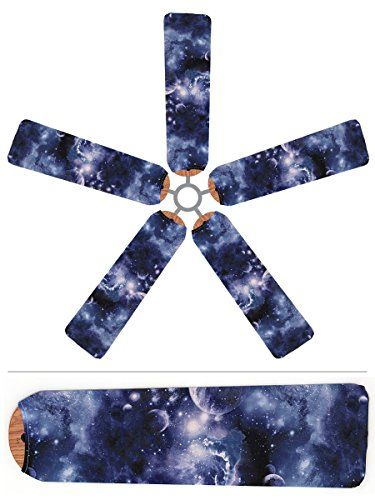 Ceiling Fan Blade Covers Outer Space Space Themed Bedroom
