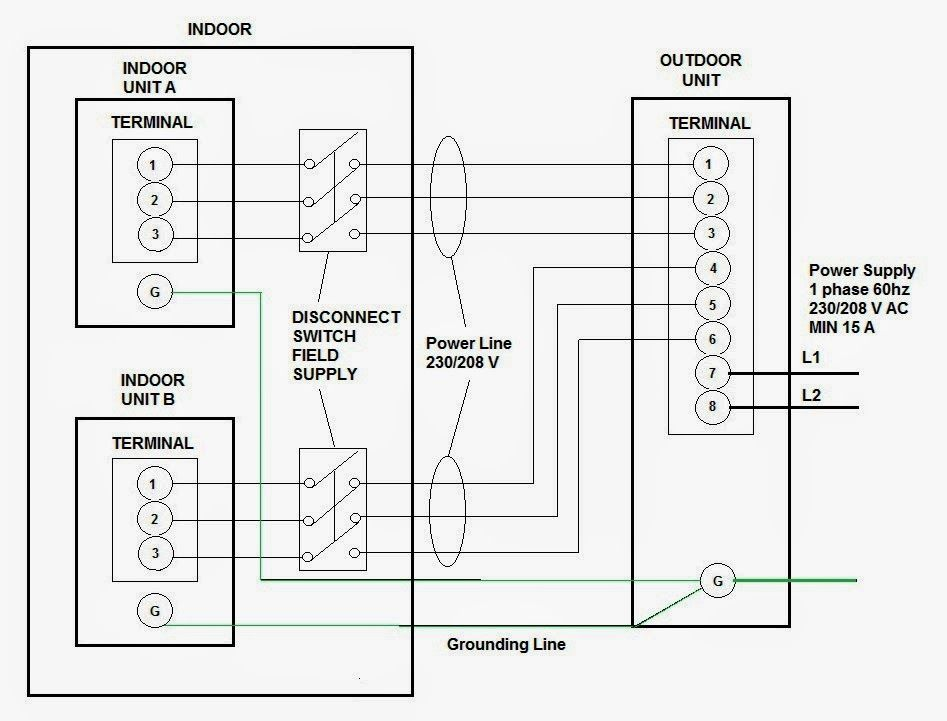 208 single phase wiring diagram heat pump