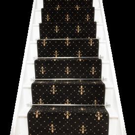 Best Crest Black Gold Stair Runner Stair Runner Carpet 400 x 300