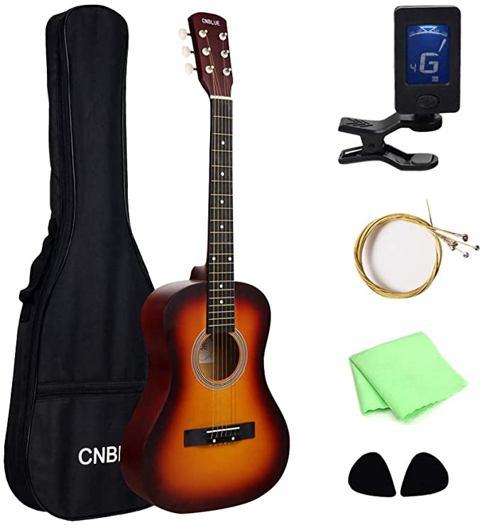 Amazon Com Cnblue Acoustic Guitar 36 Inch Beginner Classical Guitar For Kid 3 4 Size 6 Steel Strings Guitar Starter Kits W In 2020 Guitar Kids Classical Guitar Cnblue