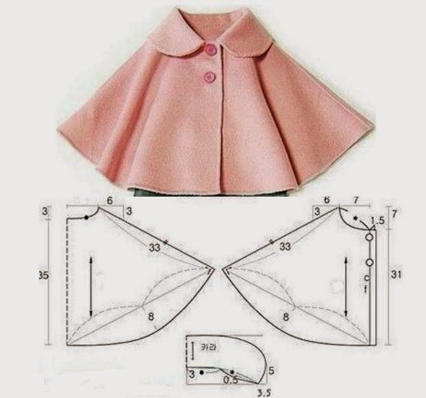 All things sewing and pattern making | Kidswear cape | Moda e Dicas ...