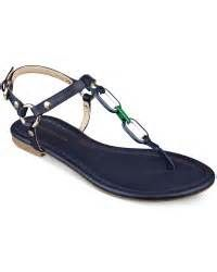 472cdb653 Tommy Hilfiger Womens Lisel Flat Sandals in Blue (Navy)