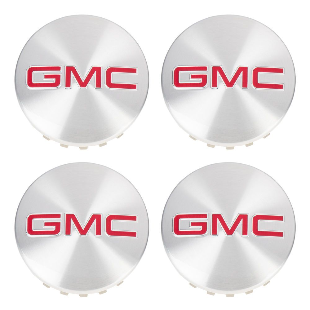 Oem Wheel Hub Center Cap Set Of 4 Brushed Alumi Oem Wheels Red