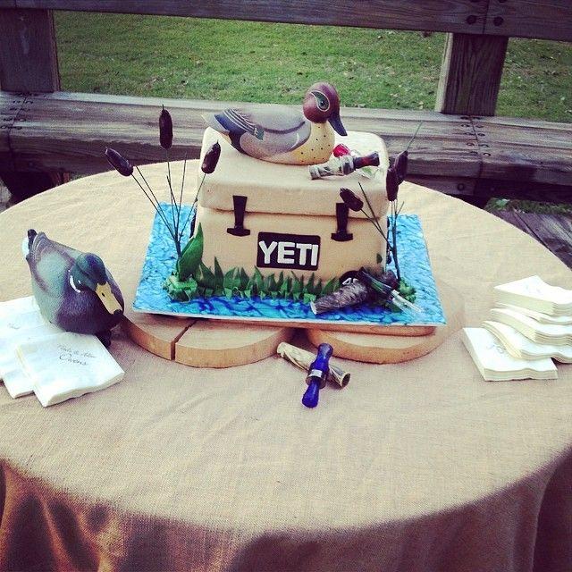 Yeti Cooler Cake   fun   Groomsman cake, Redneck cakes