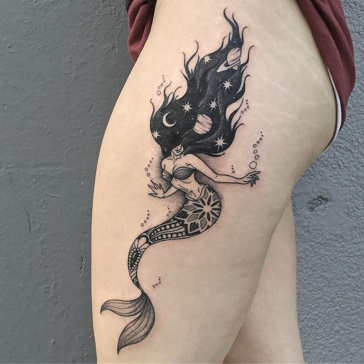 24 The Most Popular Mermaid Tattoo Designs