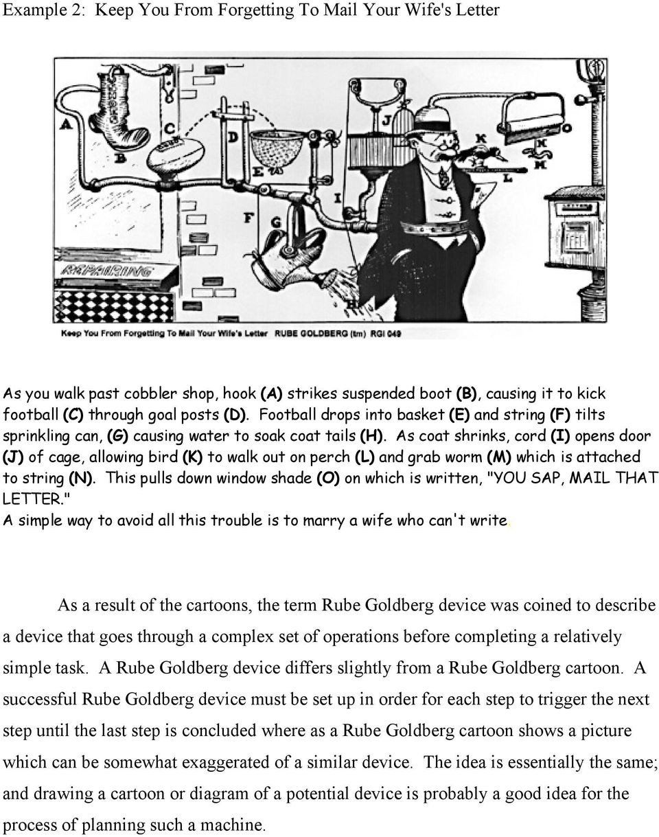 small resolution of Rube Goldberg Cartoon Worksheet Rube Goldberg Devices and Simple Machines  Pdf Free Download   Rube goldberg