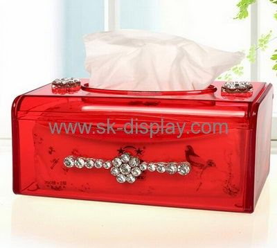 Customized acrylic plastic tissue box custom plastic box colored acrylic box DBS-105