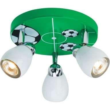 Soccer Plafondlamp 3L Groen/Zwart/Wit