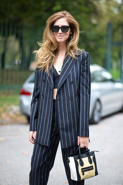 Milano Fashion Week - Chiara Ferragni in tailleur