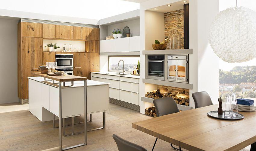 Breitschopf macht ihre Küche → Barrique Alteiche glatt - küche in dachschräge
