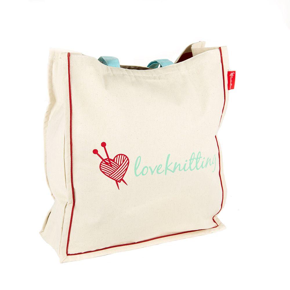 Love Knitting Tote Bag