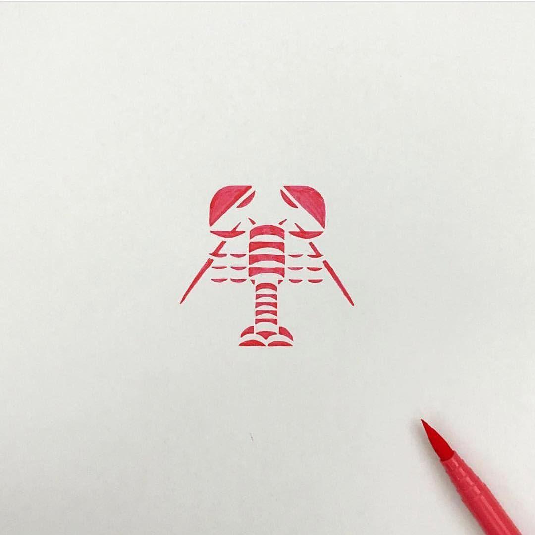 Crayfish mark by aozora121 learn logo design