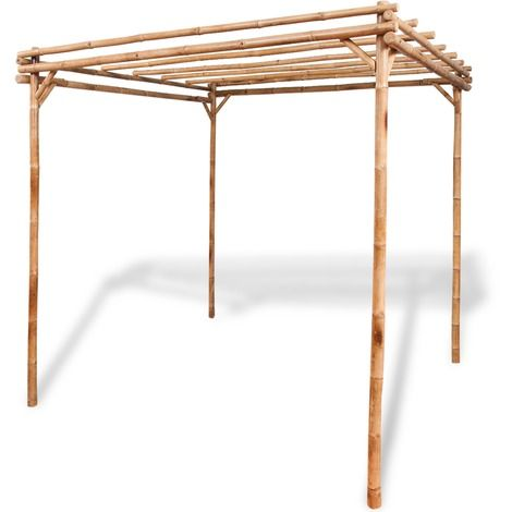 vidaXL Pergola en bambou 2 x 2 x 2 m - 41896 - Jardin piscine ...