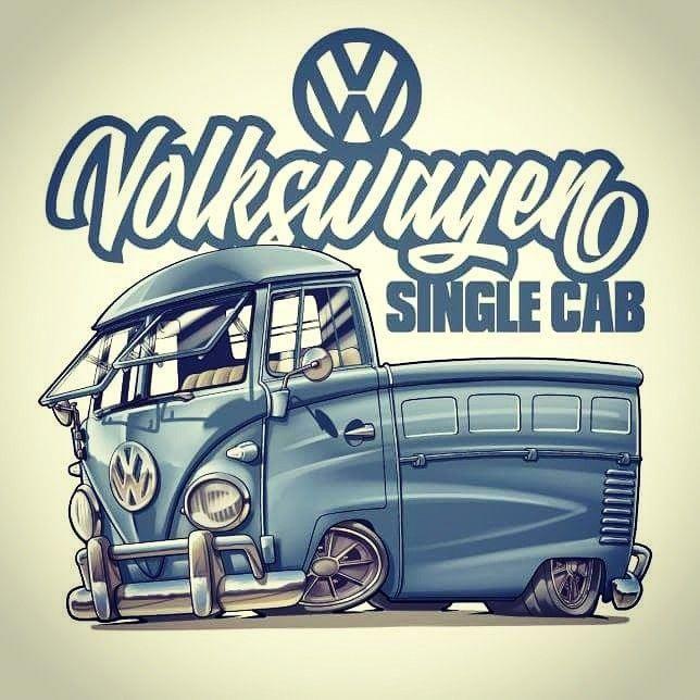 T1 Volkswagen By Dazzlarock Volkswagonclassiccars Vw Art Truck Art Car Cartoon