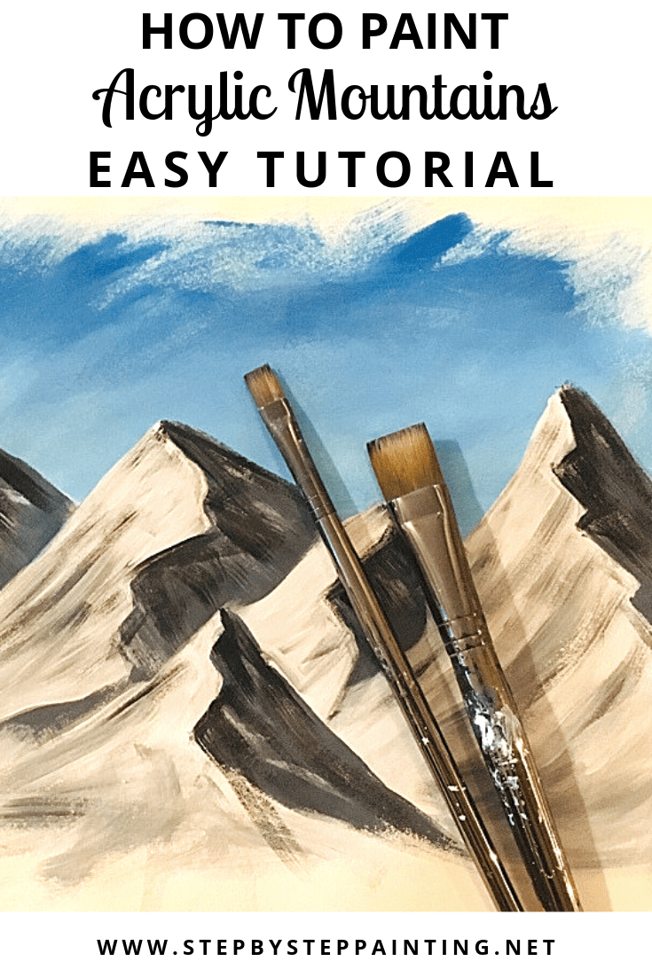 How To Paint Mountains is part of Mountain paintings, Colorful paintings acrylic, Acrylic painting tips, Landscape paintings, Oil painting landscape, Mountain painting acrylic - How to Paint Mountains   With Video! In this tutorial, I will show you the technique that I use to paint mountains with acrylics and a flat brush  I will show you both a video and step by step picture instructions! There are several different ways you can go about     Read moreHow To Paint Mountains