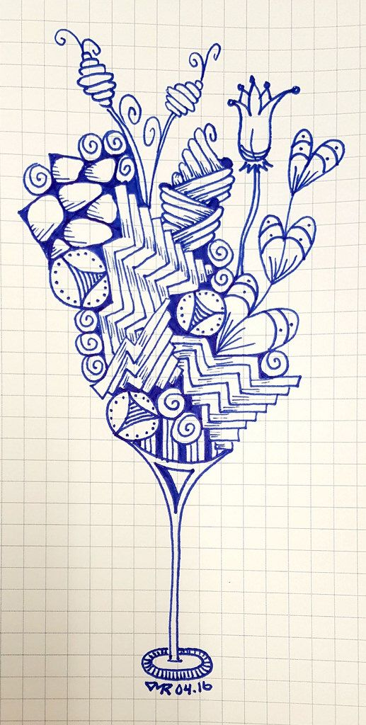zentangle cocktail 🍸texasdoxiemama on flickr doodle