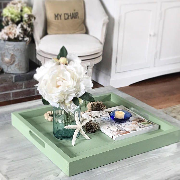 Serving Tray Makes A Lovely Housewarming Or Wedding Gift Serving Tray Decor Coffe Table Decor Cofee Table Decor