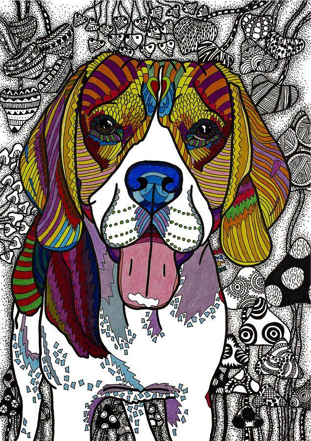 Animal Drawing - Beagle by Please Draw My Dog