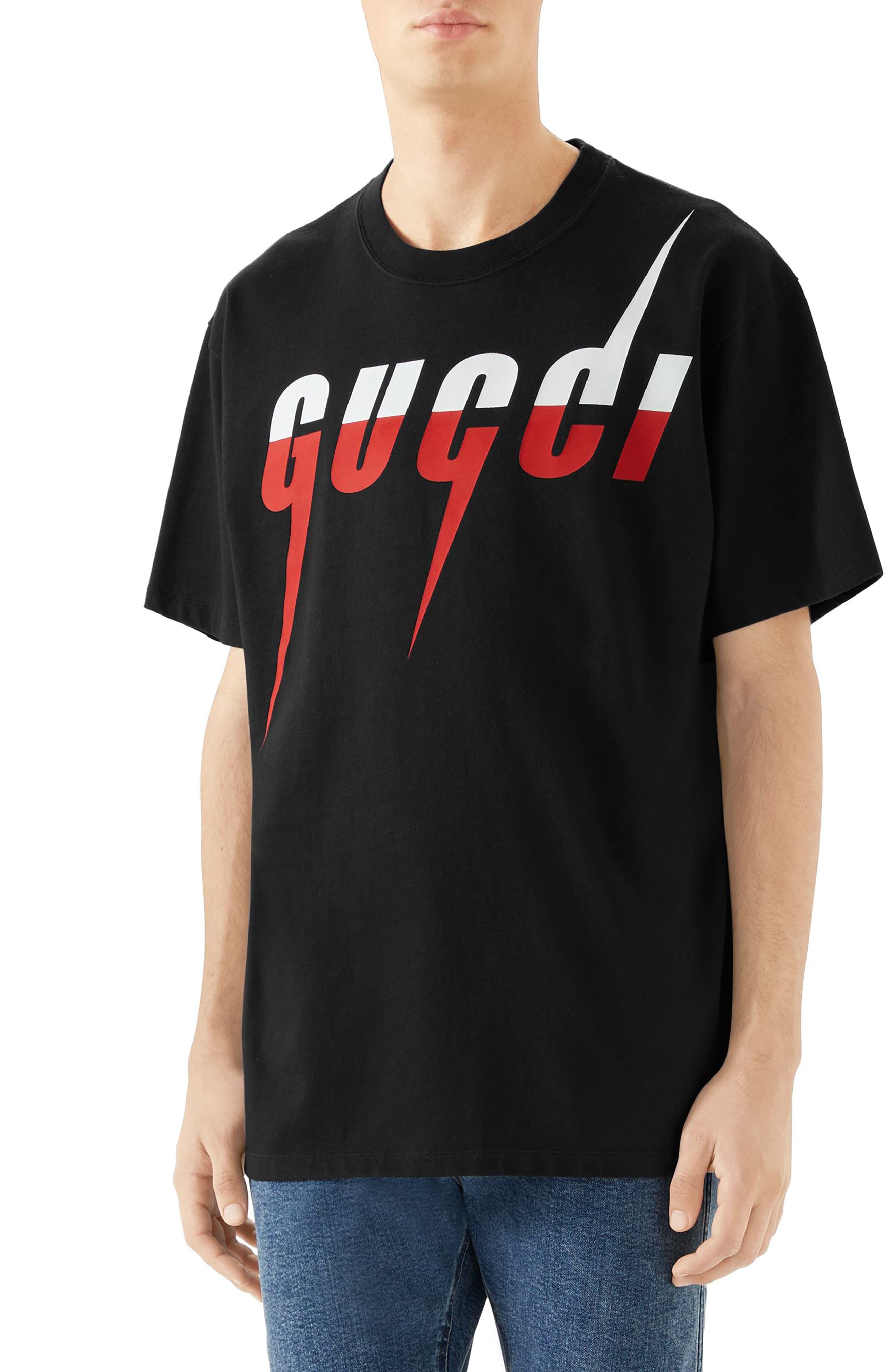 e9c34b99 Men's Gucci Blade Logo T-Shirt, Size X-Small - Black in 2019 ...