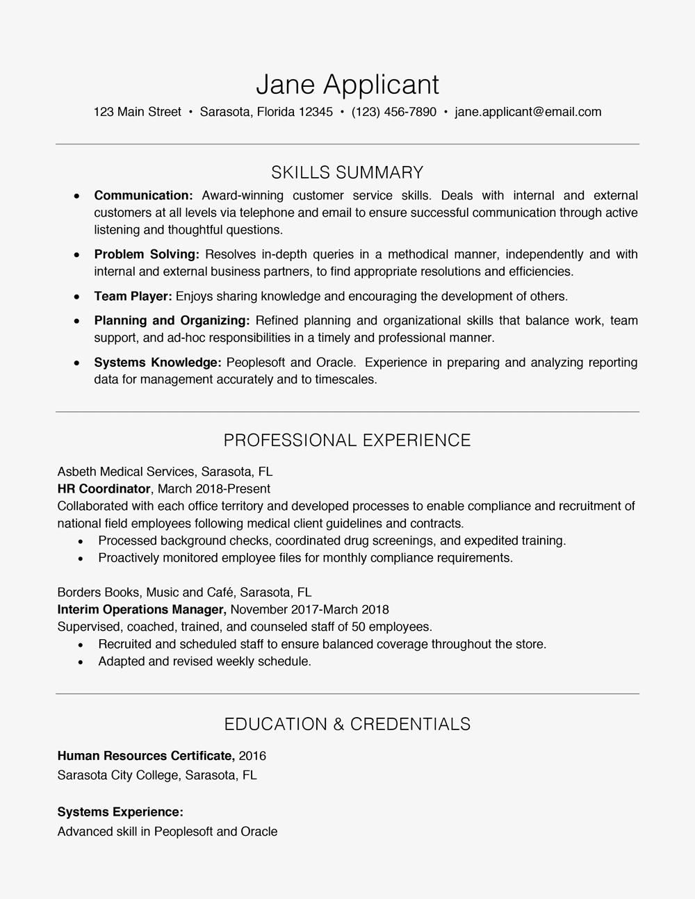 Resume Format Key Skills Resume skills, Resume examples