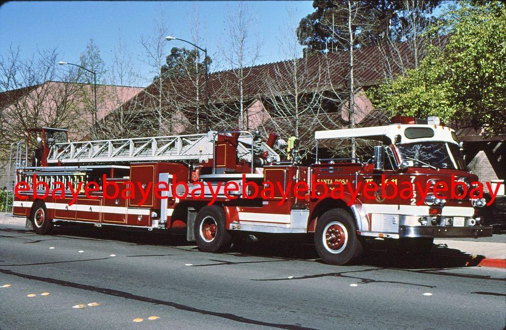 Fire Apparatus Slide, Truck 7152, Santa Rosa / CA, 1975 American