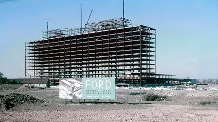 1955 Ford World Headquarters Construction Detroit History Dearborn Detroit Rock City