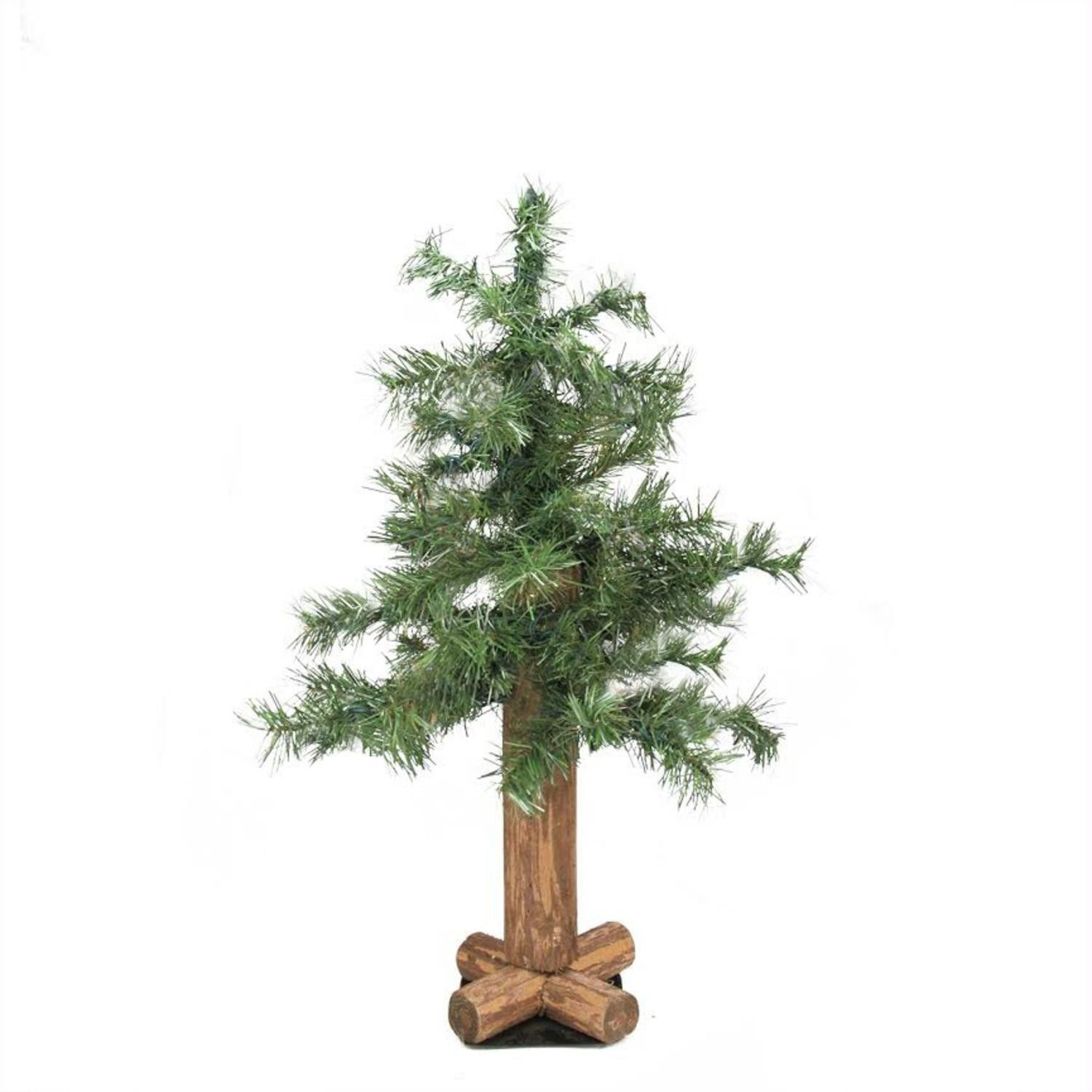 2' Traditional Mixed Green Woodland Alpine Artificial