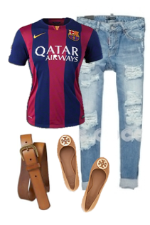 Barcelona Jersey Outfit  women  soccer  6102d52336