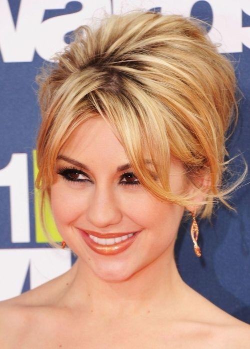 50 Best Updos for Short Hair   herinterest.com Chelsea Kane Short ...