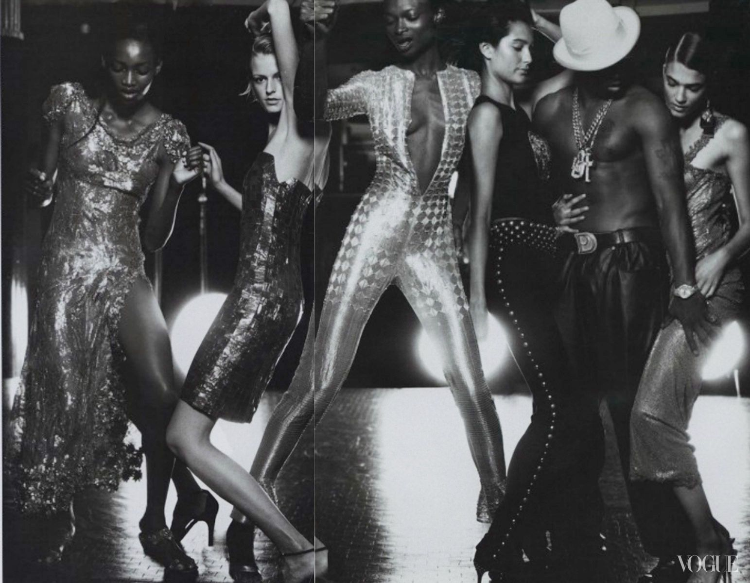 Oluchi, Debra Shaw and others  Photographed by Annie Leibovitz for  Vogue, October 1999