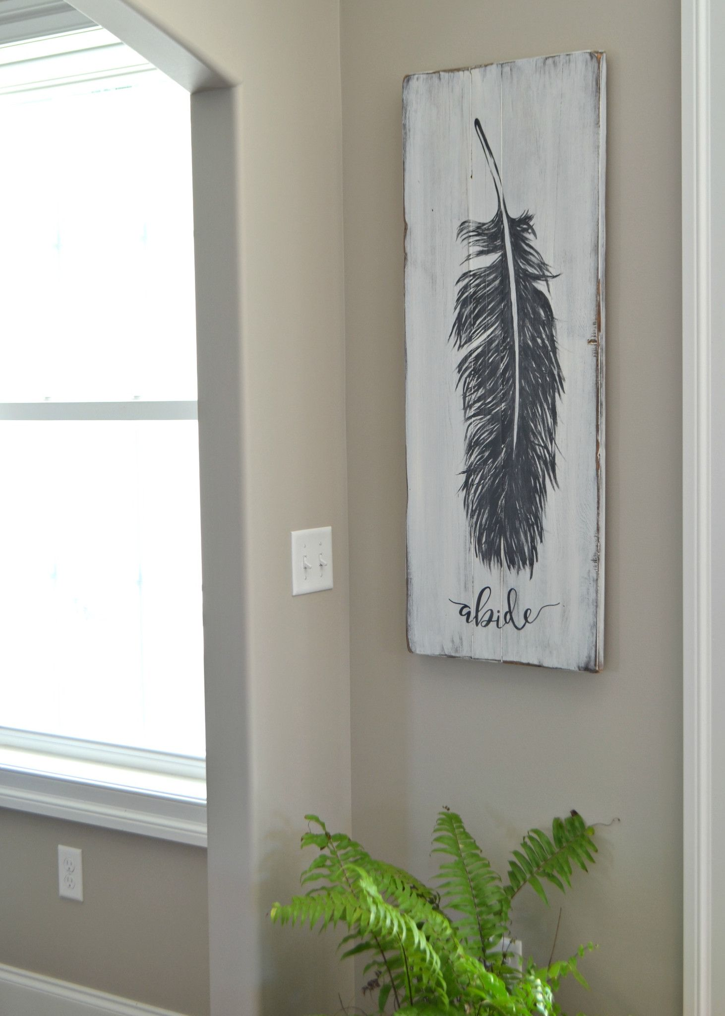 Original Feather Painting   Pinterest   Holzdeko, Winter szenen und Holz