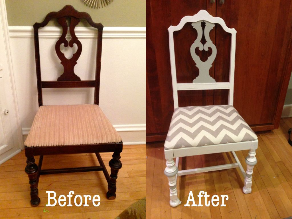 Thrift Store Treasures: DIY Upholstered Dining Chair ...