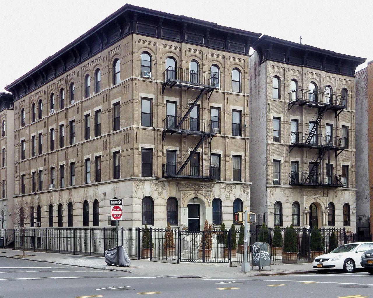 Apartment houses in Flatbush.