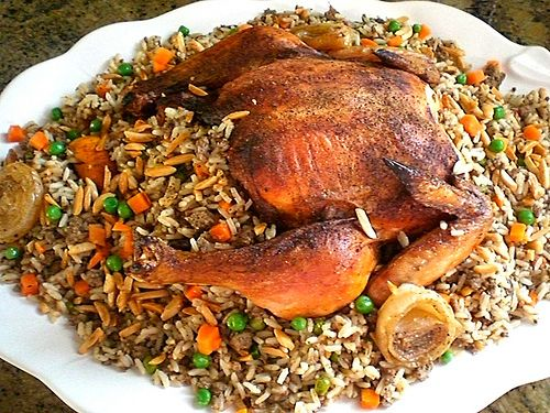 Citrus Herbs Roasted Chicken Stuffed With Rice Vegetables By Simply Heaven Inspiration But I Middle Eastern Recipes Middle East Recipes Roasted Chicken