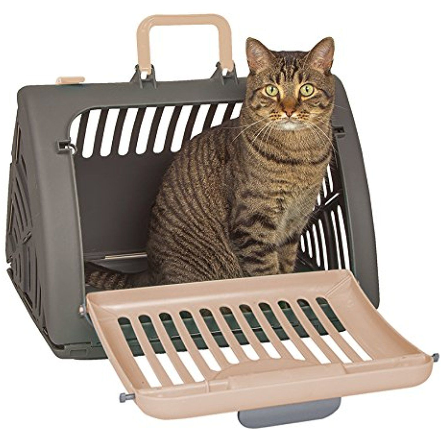 SportPet Designs Travel Cat Carrier Front Door Plastic