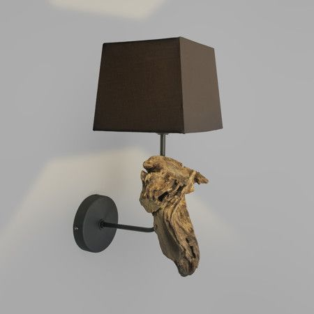 Mix 'n Match Wall Lamp Suchin Natural with Square Shade 18cm