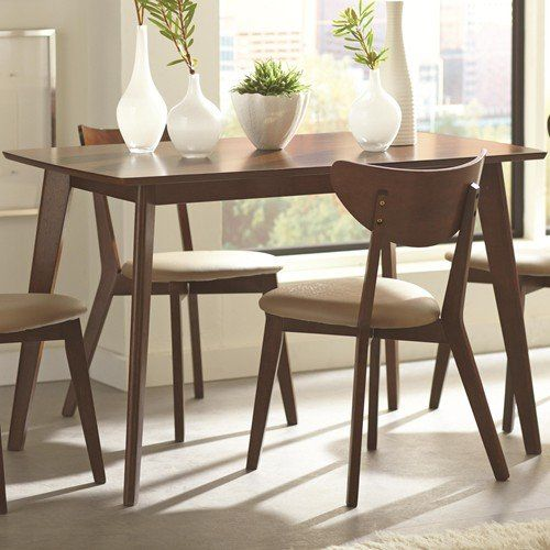Coaster Furniture 103061 Kersey Casual Dining Table Chestnut Endearing Coaster Dining Room Furniture Design Inspiration