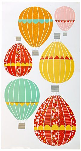 DCWV Home Peel and Stick Wall Art, Hot Air Balloons DCWV http://www ...